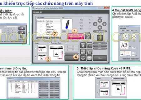 Phần mềm điều khiển máy cắt decal Graphtec CE6000