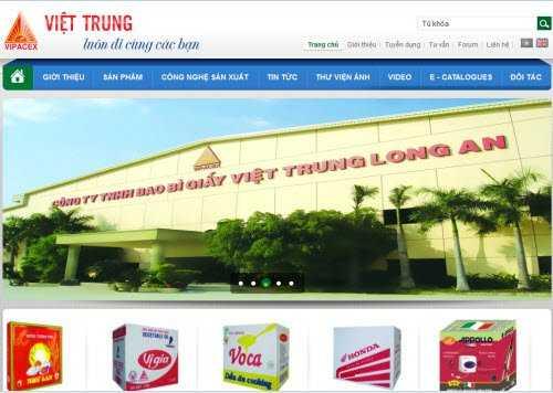 Công ty bao bì giấy Việt Trung