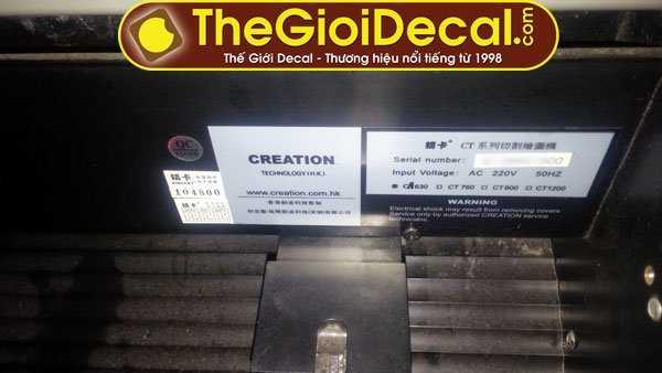 Mặt lưng máy cắt decal cũ Hongkong Kingcut