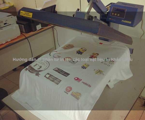 Hướng dẫn in phần tử in lên các loại vật liệu in khác nhau
