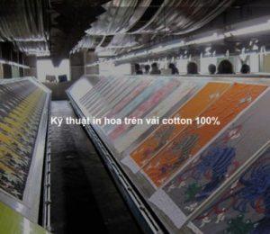 Kỹ thuật in hoa trên vải cotton 100%