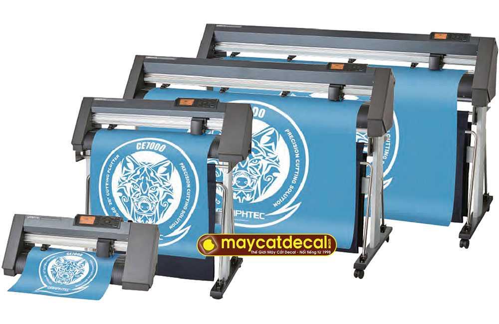 Máy cắt decal Graphtec CE7000 cắt chữ nhỏ đẹp, cắt bế tem nhãn liên tục tự động
